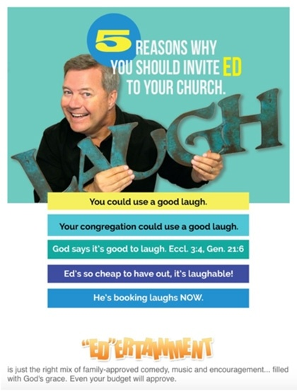 5 Reasons Why You Should Invite Ed to Your Church